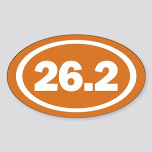26.2 Burnt Orange True Sticker (Oval 10 pk)